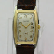 Vintage Movado Chronometer Cal. 730 14k White And Yellow Gold Wristwatch Ca.1930's