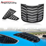 Rear And Side Window Scoop Louvers Sun Shade Cover Fit For Ford Mustang 2015-2021