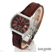 Lancaster Made In Italy Date Ladies Watch With 1.51 Ctw Diamonds. Brand New