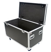 Utility Tour 45 Ata Road Case With 4 Caster Wheels Rubber Lined By Osp