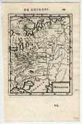 Genuine Antique Map Moscovie, Russia A.m. Mallet 1683 [ah470]