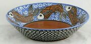 Ceramic Fish Bowl Mexican Folk Art Collectible Decor Handmade Guadalupe Rios