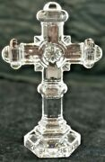 Noble Excellence Lead Crystal Christian Cross 8 Handmade In Germany