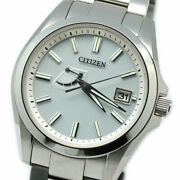 Citizen Aq1030-57a Stainless Steel Box Eco-drive Solar Mens Watch Auth Works