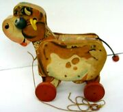 Fisher Price Molly Moo Moo 190 Vintage 1956 Cow Pull Toy Moving Head And Tail