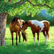 3d Diamond Painting 2 Horses Patterns Embroidery Cross Stitch Mosaic Decorations