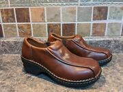 Beautiful Eastland Womenand039s Tracie Brown Leather Slip On Clogs Comfort Shoes 7w