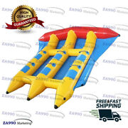 Commercial Inflatable 6 Seats Double Lanes Flying Fish Banana Boat With Air Pump