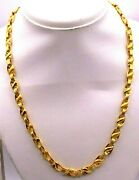 Certified 22k Hallmarked Gold Amazing Antique Design Lotus Chain Necklace Gifts