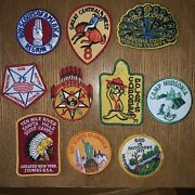 Lot Of 10 Miscellaneous Boys Scouts Of America Patches Vntage