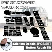 For Vw Steering Wheel Window Headlight Climate Switch Car Stickers Button Decals