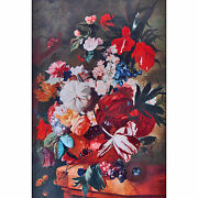 Continental Floral Still Life Painting 19th Century