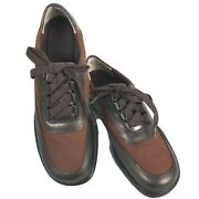 Decoys By Auditions Retro Brown Suede Leather Oxford Saddle Shoes Women's 6 B