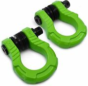 Gearamerica Uber Bow Shackles With Anti Theft Lock Green 2pk | 80000 Lbs Mbs