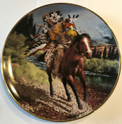 Charging Warrior Plate From The Franklin Mint - Plate Number La2739