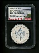 Canada 2018 S20 Maple Leaf Silver 30th First Releases Ngc Pf70 Reverse Proof