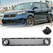 For 2008-2010 Scion Xb Mesh Bumper Grille Grill And Led Fog Lights Driving Lamps