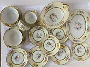16 Pc Antique 1921 Noritake China Wildfleur Floral Bowl Tray Plates Cup And Saucer