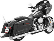 Freedom Racing Dual Exhaust System Chrome Body With Chrome Tip Hd00134