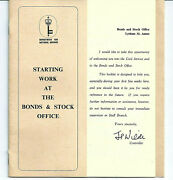 Lytham St. Annes 1969 Dept For National Savings Bond And Stock Office Booklet