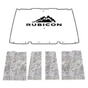 Hood Insulation Pad Cover For 1996-2006 Jeep Wrangler Tj With J-040 Rubicon