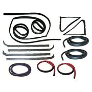 Window Sweeps Channel Door Seal Kit For 80-86 Ford Driver And Passenger 13pc