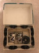 vintage Singer 403 Slant O Matic Sewing Mach, Foot Pedal, Case And Attachments.