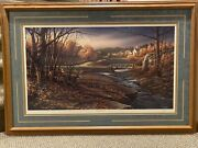 Andldquoindian Summerandrdquo Signed Limited Edition Art By Terry Redlin. 1988.