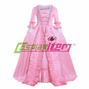 18th Century Marie Antoinette Colonial Rococo Pink Ball Gown Dress Costume