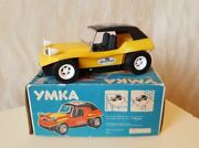 Vintage Toy Car Umka Battery Operated Own Package Bear Russia Ussr Soviet