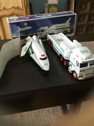 Hess 1999 Collectible Toy Truck And Space Shuttle With Satellite