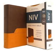 Niv Bible Large Print Duotone Free Shipping In Shrink Wrap Brand New