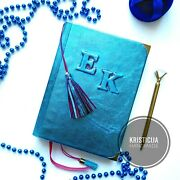 Handmade Personalised Notebook Genuine Leather Diary/notepad/planner A5 Preorder