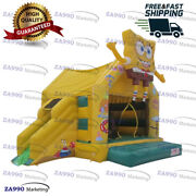 13x13ft Inflatable Spongebob Squarepant Bounce House And Slide With Air Blower