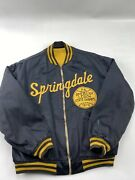 Vintage Vtg 70andrsquos Springdale American Legion- Satin Jacket By Rawlings - Size 40