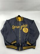 Vintage Vtg 70andrsquos Springdale American Legion- Satin Jacket By Rawlings - Size 50