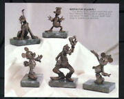 Goofy Pluto Donald Minnie Mickey And Friends Bronze 9/75 Matched Numbered Set