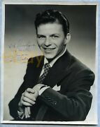 Vintage Frank Sinatra Early Signed Photo 1942 Inscribed Autograph Signature Rare