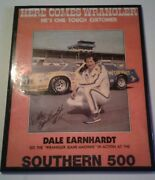 Dale Earnhardt Rare Southern 500 Wood Plaque Winner's Circle Die Cast 1997