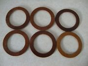Model A Ford Leather Radiator Cap And Gas Cap Gaskets 1930 1931 Quantity 6