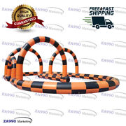66x33ft Commercial Inflatable Race Zorb Ball Track Go Kart With Air Blower