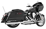 Freedom Union 2-into-1 Full Exhaust Pipes System Chrome Harley Flh Flt 2017-2019