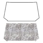 Hood Insulation Pad Heat Shield For 1955-1956 Chevrolet Under Hood Cover Smooth