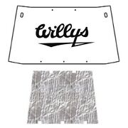 Hood Insulation Pad Heat Shield For 50-63 Willys Under Cover- W/j-080 Willys