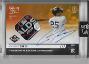 2019 Topps Now Gleyber Torres 981d On Card Auto / Alds Game Used And039d 3/5 Nyy