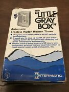 Intermatic Wh40 Heavy Duty Switch Electric Water Heater Timer Gray New Old Stock