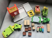 Fisher Price Little People Lumber Yard And Construction, 1978, Vintage