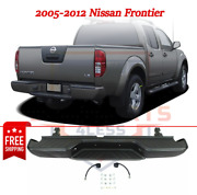 New Step Bumper W/ Bracket And Pad, Black Steel For 2005-2012 Nissan Frontier