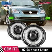 For Nissan Altima 02-04 Factory Replacement Halo Projector Fog Lights Clear Lens