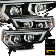 For 2014-2020 Toyota 4runner Led Drl/signal Black Projector Headlights Assembly